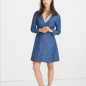 NWT Madewell Lilyblossom Button-Front Dress